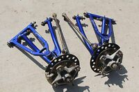 Yamaha YFZ 450 Raptor 700 front a-arms brakes hubs spindles 2004-2009 BLUE A-4