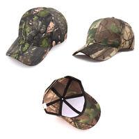Men Women Camouflage Adjustable Cap Camo Baseball Hunting Fishing Sun Ha &h