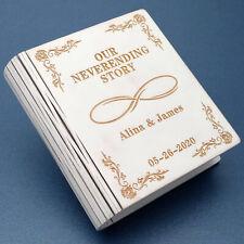 Personalized Wedding Ring Box Custom Ring Bearer Book Box Engagement Ring Box