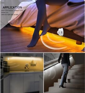 Night Light Home Bedroom Motion Activated Under Bed Lighting Stairs LED Strip