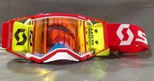 2019 Scott Prospect MX Goggle Racer Pack White Red - Orange Lens - Yellow WFS