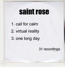 (GQ674) Saint Rose, Call For Calm - DJ CD