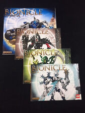 2009 LOT OF 4 LEGO BIONICLE INSTRUCTION MANUAL BOOKLETS, 8993,8984,8986,8988
