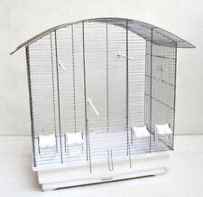 Cage pour Oiseaux Ula , Oiseau Accueil avec Accessoires, Chrome/Blanc