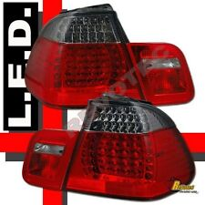 99 00 01 BMW E46 4Dr Sedan 323i 328i Red Smoke LED Tail Lights 1 Pair