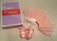 New in Box AMERICAN GIRL Doll Pretty Pink Tutu Set With Tiara & Ballet Slippers