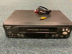Sharp VCR 4-Head VHS VC-H813  Recorder Player Tested! Works! No Remote