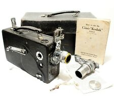 Cine Kodak Model K 16mm Camera + Case + Spare Lens + Instructions | Working.