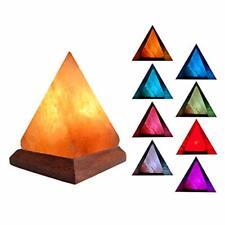 NATURAL HIMALAYAN SALT LAMP PYRAMID CRYSTAL ROCK MULTI Colours changing ***GIFT