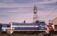 CWP CHICAGO WEST PULLMAN & SOUTHERN Railroad Locomotive Original Photo Slide
