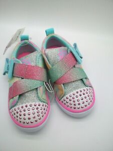 Toddler Girls' S Sport By Skechers Robyn Light-Up Sneakers size 7 gems sparkle