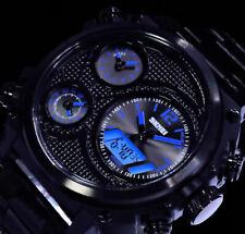 XL SKM Analog Digital Herren Armband Uhr Schwarz Blau Chronograph 5 Zeiten STL2