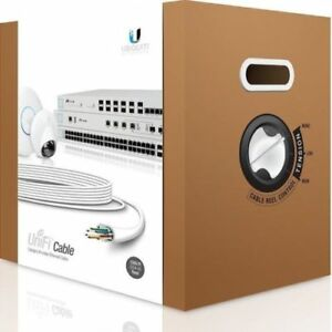 UBIQUITI UniFi 305M CAT6 Cable UC-C6-C, Shielded 23 AWG Solid Copper For Indoor