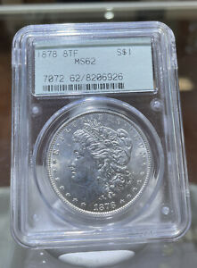 1878 8 Tail Feather Morgan Silver Dollar MS 62 PCGS Rattler