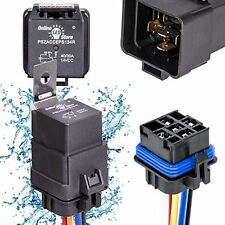 OLS 40/30 Amp Waterproof Relay Switch Harness Set - 12V DC 5-Pin SPDT Automotive
