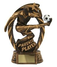 Resin Parents Player Football Trophies 180mm high Awards FREE Engraving