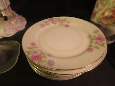 """GHB Japan 9-1/4"""" Luncheon Plate Pink, Purple & White Flowers"""