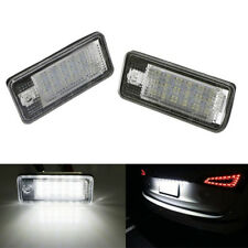 2x LED Number License Plate Light 18SMD Canbus No Error For Audi A3 A4 S4 B6 B7