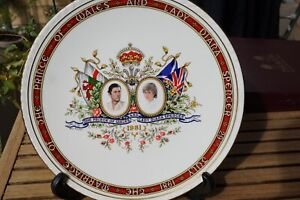 Lady Diana and Prince Charles Royal Wedding 1981 Paragon plate, in original box.