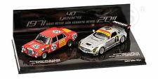 Set 2 Car Mercedes Benz 1:43 Minichamps 402711100 Model Diecast