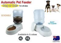 Automatic Pet Dog Cat Food Feeder Bowl Bottle Dispenser Plastic 4L & 11L