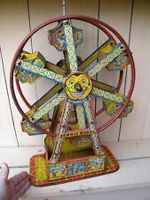 TIN LITHO Vintage Toy - CHEIN FERRIS WHEEL - HERCULES - Old Wind Up Toy - WORKS!