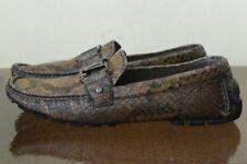 Louis Vuitton Men's Loafers Snakeskin Shoes Sz 9