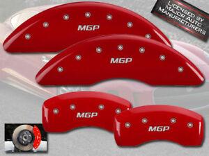 "1997-2006 Jaguar XK8 Front + Rear Red ""MGP"" Brake Disc Caliper Covers 4pc Set"