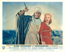 King Richard and the Crusaders original lobby card Rex Harrison Virginia Mayo