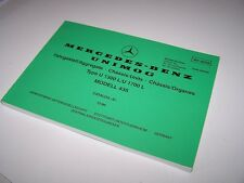 Mercedes Unimog 435 U1300L U1700L Chassis Parts Illustration Booklet - NEW