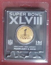 Super Bowl XLVIII Highland Mint Etched Acrylic Coin Official NFL Merchandise NEW