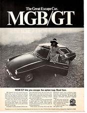1968 MGB/GT  ~  CLASSIC ORIGINAL PRINT AD
