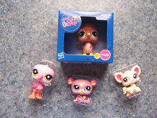 Lot Of 4 Littlest Pet Shop:-- Kiwi Bird-- Pink Flamingo-- Panda Bear-- Chihuahua
