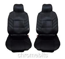 vorne schwarz Komfort Kissen Sitzbezüge 1+1 für Dacia Duster Sandero Logan MCV
