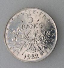 RARE :  5 Fr 1982  semeuse nickel