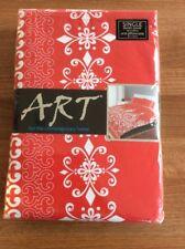 Contemporain Rouge et Blanc Simple Parure De Lit Inde Mahal-Art NEUF