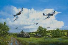 Hawker Typhoon Sherman Tank 1944 Army Aircraft Aviation Plane Painting Art Print