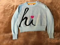 LITTLE MISS MATCHED GIRLS LONG SLEEVE BLUE/BLACK SWEATER SIZE 4