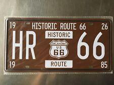 HR 66 Vintage Metal Car Decorative License Plate United States Home Decor