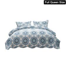 3 Piece Bedspread Coverlet Set Printed Quilt Set Lightweight Full Queen Size Us