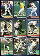 1994 Score KARL TUFFY RHODES Signed Card CUBS japan ASTROS autograph
