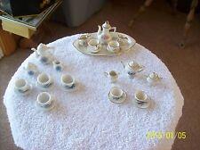 Porcelain Vintage Doll House Miniature Tea Set With Floral Design 3 Sets