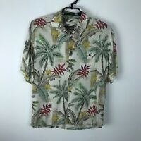 Moda Campia Moda Hawaiian Shirt Mens Size M Floral Multicolor Rayon Short Sleeve