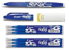 PILOT Tintenroller FRIXION BALL Blau + 6 Ersatzminen + Radierer Spar Set