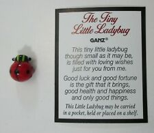zzb Tiny Little Ladybug glass figurine loving good luck fortune health happiness