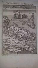 1686 Isole  Grecia Negroponte -Mappa antica originale - autore Manaisson Mallet