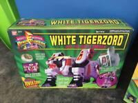 Vintage Power Rangers White Tigerzord and the White Ranger NRFB MIB