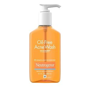 Neutrogena Oil-Free Acne Fighting Facial Cleanser with Salicylic Acid Acne Tr...