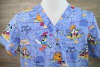 Disney Halloween Scrub Top - Size Large - Cotton /Polyester - Style 46a970