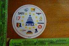 Alter Aufkleber TV Radio Sat Sender ASTRA
